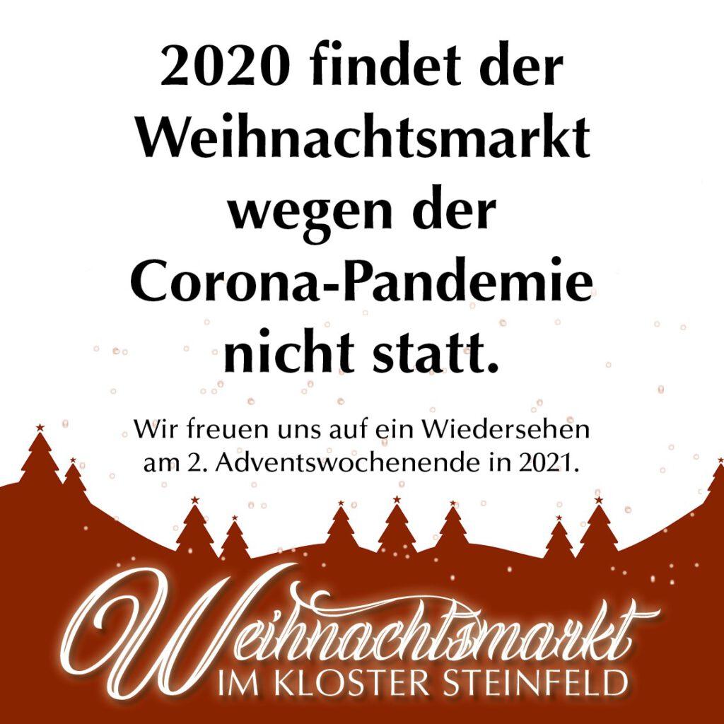 Kloster Steinfeld Eifel Weihnachtsmarkt 2020 Corona