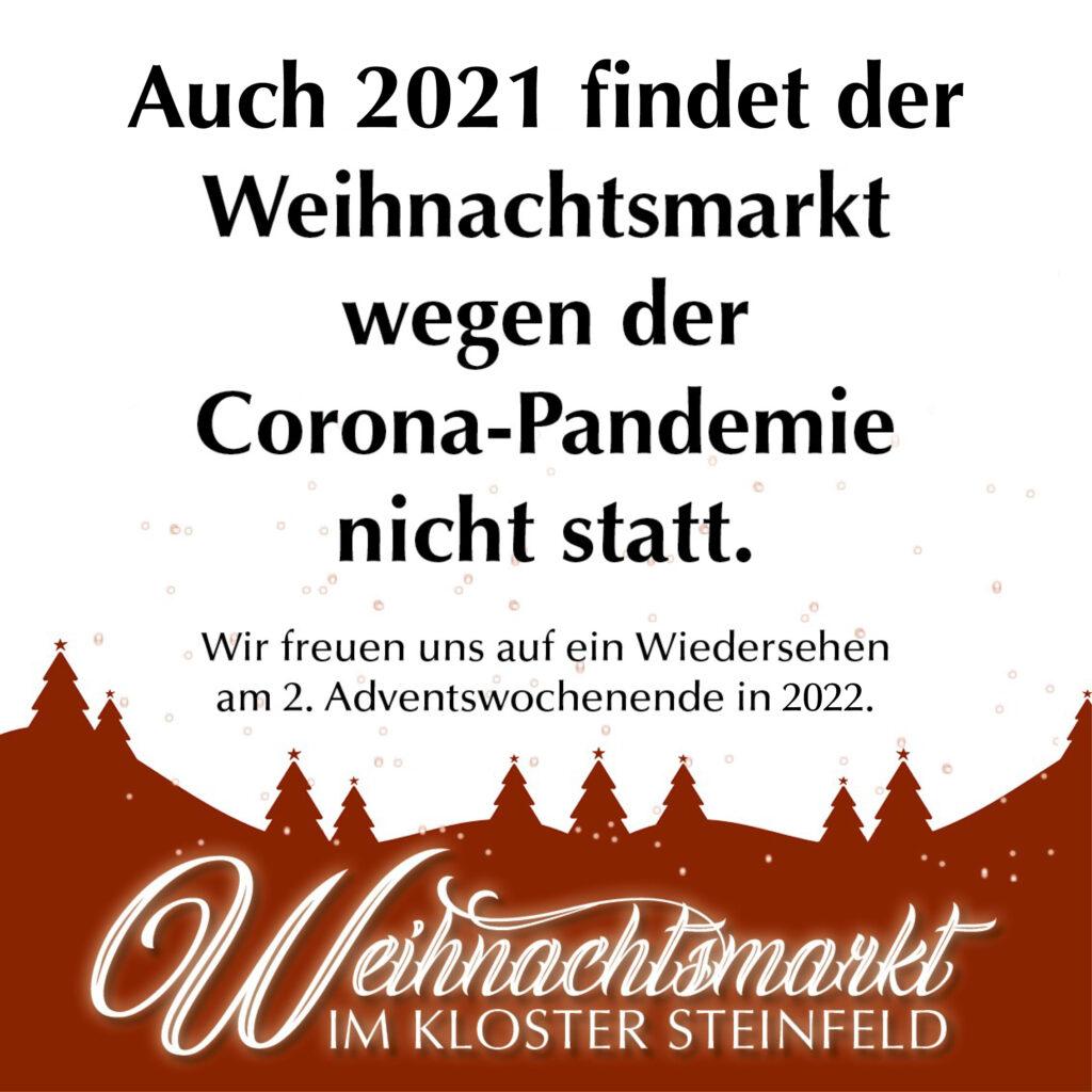 Kloster Steinfeld Eifel Weihnachtsmarkt 2021 Corona